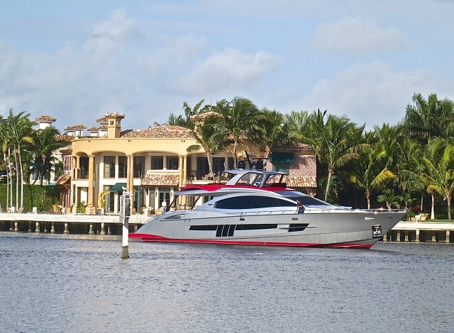 Multimillion Dollar Home On The Intercoastal Waterway And The Owner's Yacht