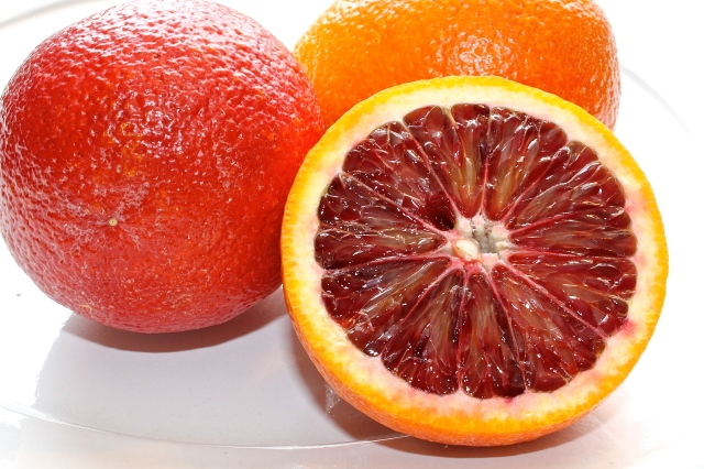 The Glistening Red Orange Flesh Of A Blood Orange