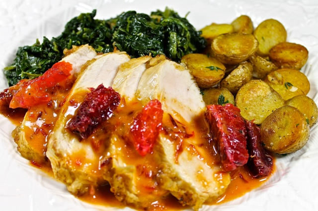 Turkey Tenderloin With Blood Orange