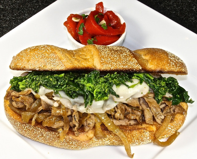 Cheese Steak With Broccoli Rabe, The Best Italian Sandwich