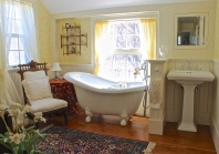 Master Bath With Claw Foot Tub And Pedestal Sink