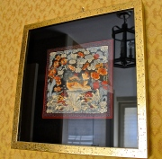 Asian Artwork In Master Bath