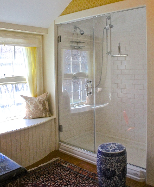 Master Bath Window Seat And Shower