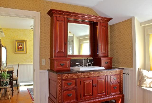 Master Bath Chinoiserie Inspired Vanity