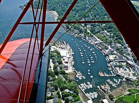 Birdseye View Of Camden Harbor