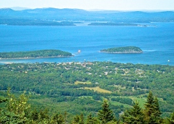 View Of Bar Harbor From Cadillac Mountain In Acadia Nat'l Park