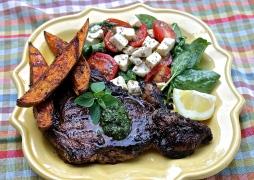 Buffalo Ribeye With Chimichurri Sauce