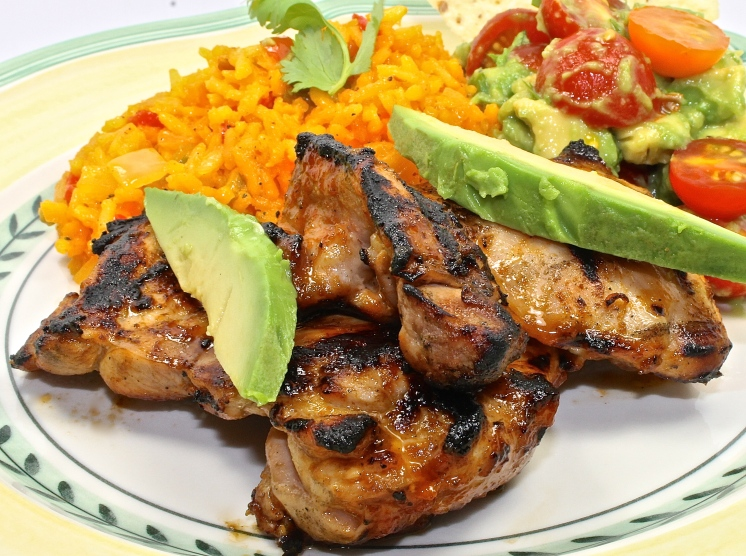 Grilled Chicken Thighs With Honey Sriracha Sauce