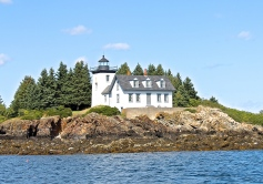 One of Maine's Many Lighthouses Along Its Craggy Shores