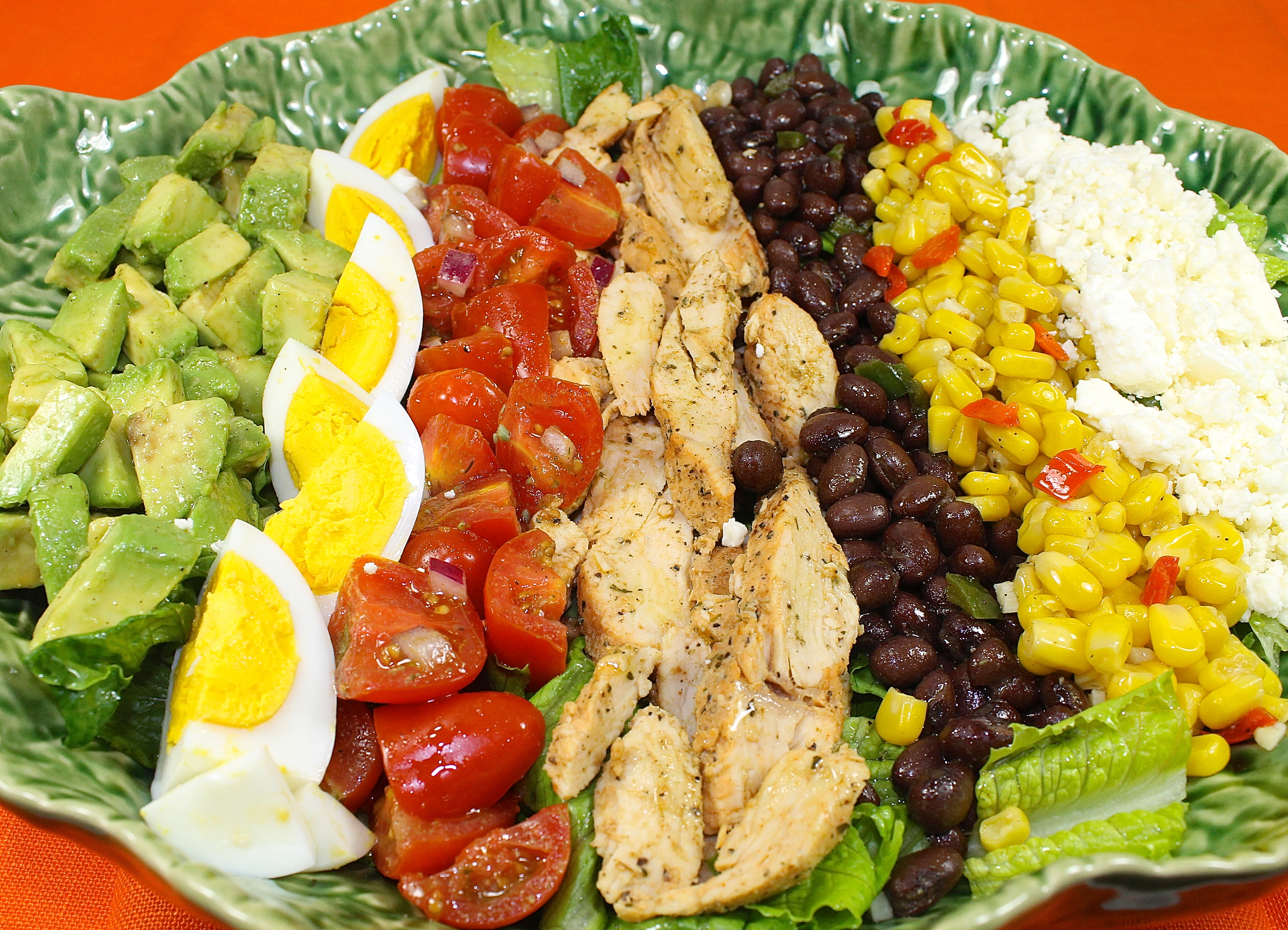 Southwestern Salad, A Cobb Salad With A Mexican Flair