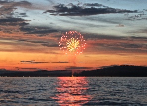 4th Of July Fireworks Across Long Lake