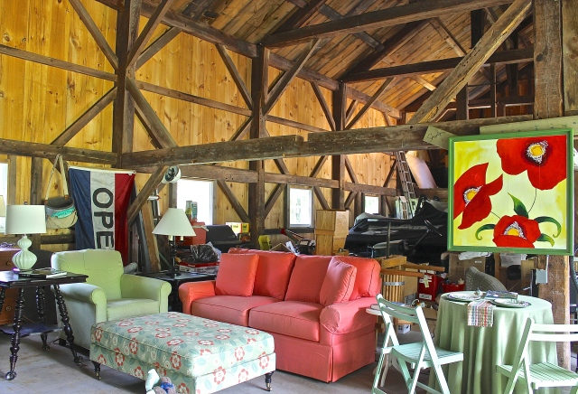 Our Large Barn Filled With Furniture Awaiting To Be Sold
