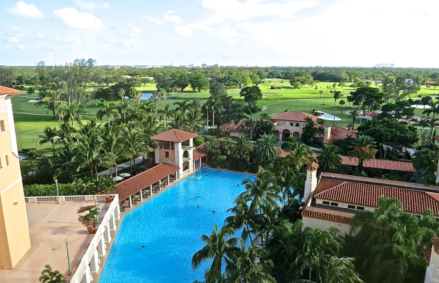 The View Of The Pool And Golf Course From The 7th Floor Of The Biltmore Hotel
