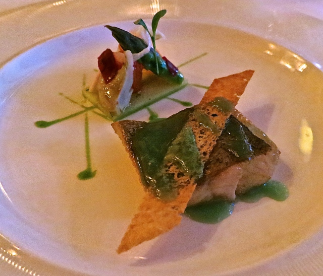 Wild Caught Trout, Purple Artichokes, Cilantro Sauce