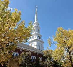 The North Church Steeple Can Be Seem From Many Parts of Downtown Portsmouth