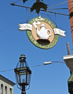 Breaking New Grounds' Sign At Market Square