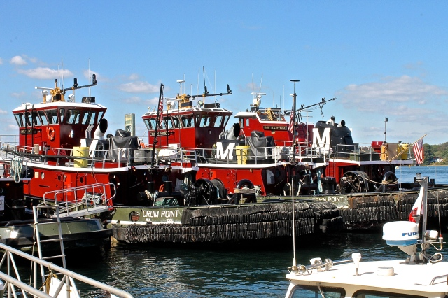 Tugboats That Help The Ships Navigate The Swift Water As They Come In And Out Of Portsmouth Harbor