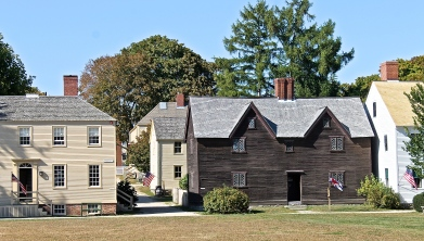 Historic Homes At The Strawberry Banke Museum, Portsmouth, New Hampshire