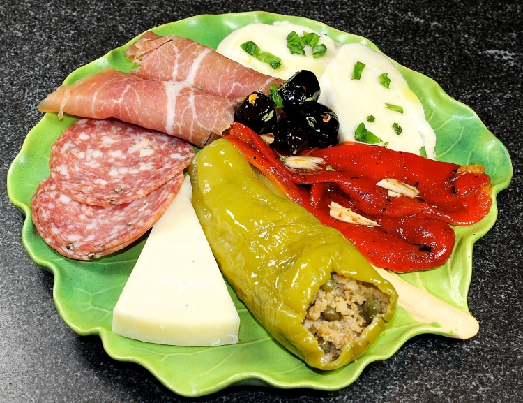 Italian Stuffed Peppers As Part Of An Antipasto