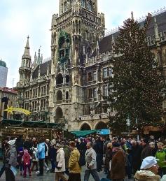 DSC00745 Munich's Christkindlmarkt Held In Front Of The Famous Glockenspiel