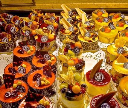 A Beautiful Display Of Pastry At Dallmayr