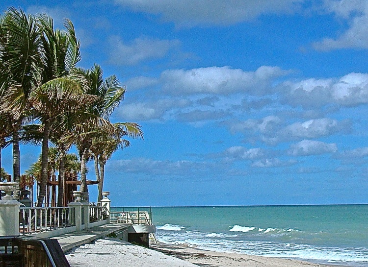 The White Sand And Turquoise Water At Vero Beach, Florida