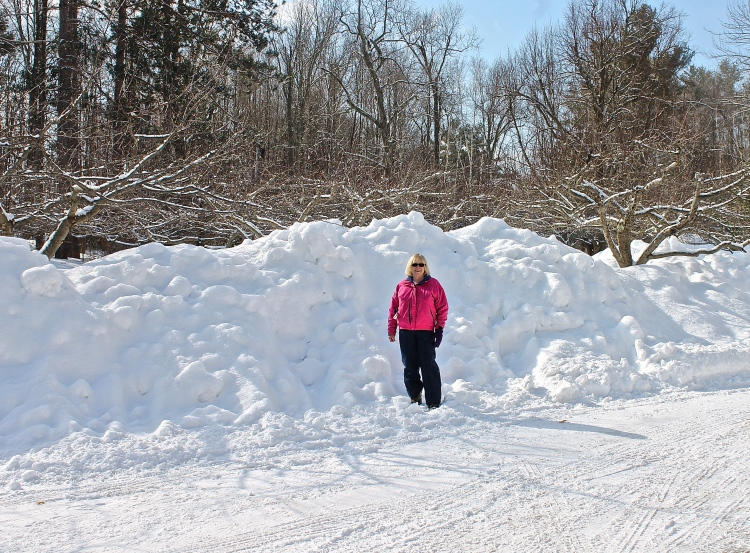 Pretty High Snow Piles…Snow Boots, Pants, And Coat, Where Is My Shovel
