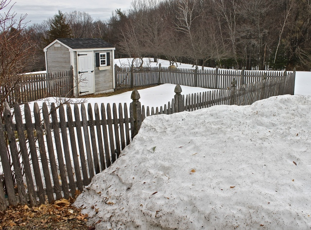 Snow Blocks The Garden Gate, No Planting Any Time Soon