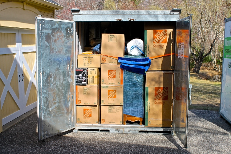 Two 6x7x8 Foot Cubes Packed And Ready To Be Moved To Florida