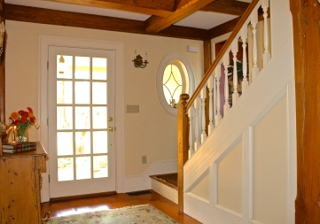 The Downstairs Foyer With The Main Staircase Up To The Master Suite