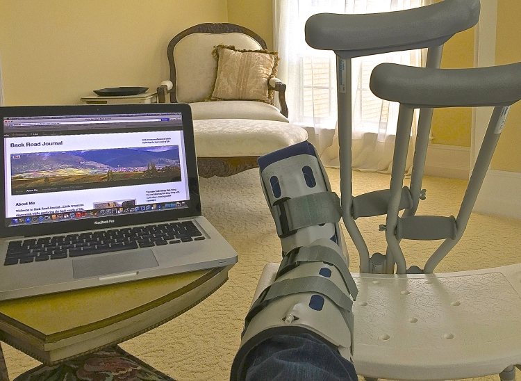 Coping With Crutches And A Broken Foot
