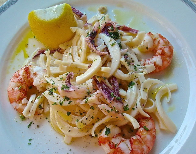 Seafood Salad At A Portofino Restaurant