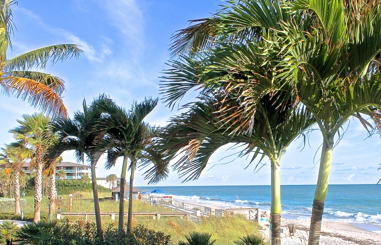 Atlantic Ocean At Humiston Park, Vero Beach, Florida