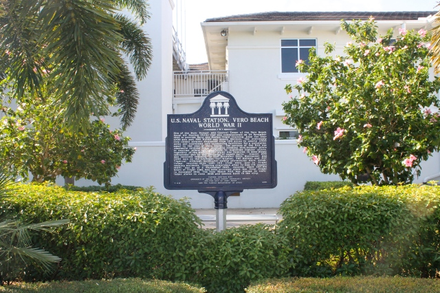 Historic Marker In The Gardens Of The Vero Beach Regional Airport