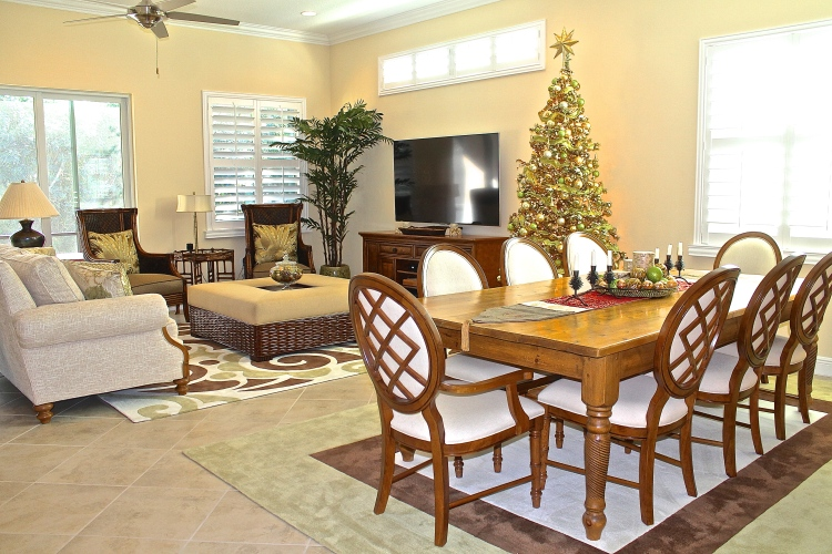 Decorating An Open Concept Home For Christmas
