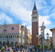 The Doge's Palace And Campanile In St. Mark's Square