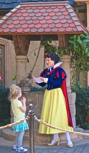 Snow White By The German Wishing Well