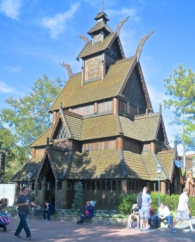 Replica Of The Stave Church In Gol, Norway