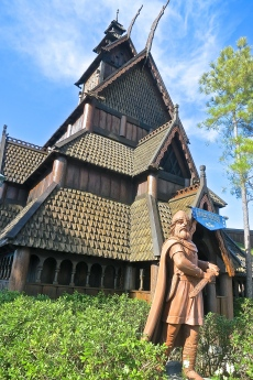 Stave Church In Epcot's Norway