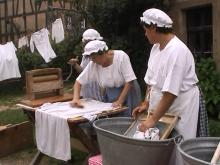 We've Come A Long Way When It Comes To Doing Laundry Photo courtesy: Rhof-handwaschen.ogg From Wikipedia