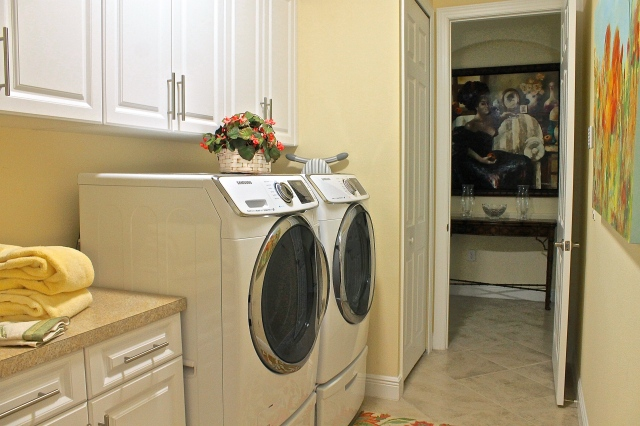 The Laundry Room Is Directly Off The Entrance Foyer As Well As Through The Garage