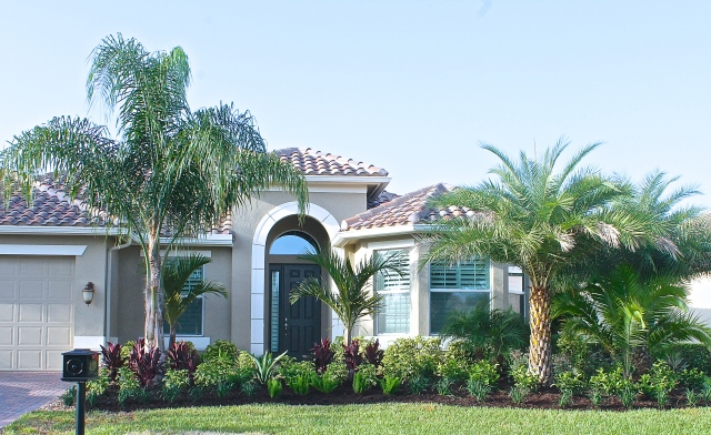 The New Gardens Complement The Style Of Our Florida Home