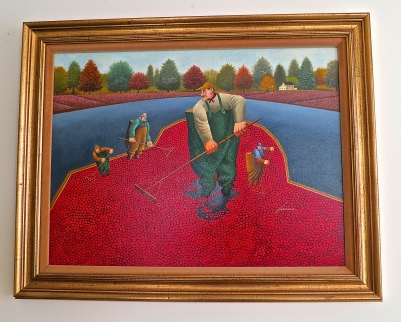 Cranberry Harvest Painting