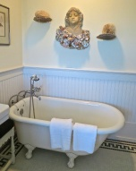 Guest Bathroom Has An Antique Claw Foot Tub As Well As A Separate Modern Shower