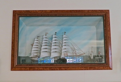 Antique Sailing Ship Diorama