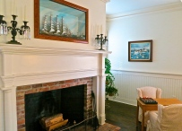 Fireplace With Sailing Ship Diorama