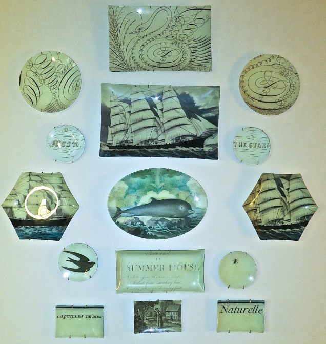 A Wonderful Collection Of Decorative Plates In The Foyer