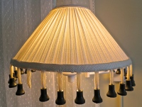 Black Wood Tassel Lampshade