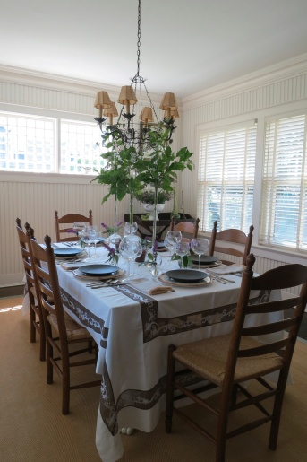Nantucket Dining Room Ready For A Dinner Party
