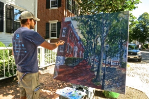 "Well Known Nantucket Painter Illya Kagan Painting ""The Three Bricks"""